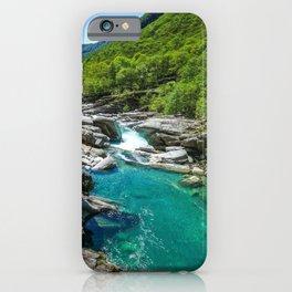 Valle Verzasca, Lavertezzo, Locarno, Canton of Ticino, Switzerland photograph iPhone Case