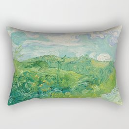 Green Wheat Fields, Auvers, 1890, Vincent van Gogh Rectangular Pillow