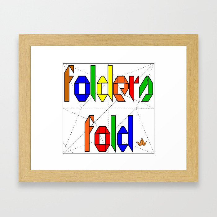 Folders Fold Framed Art Print