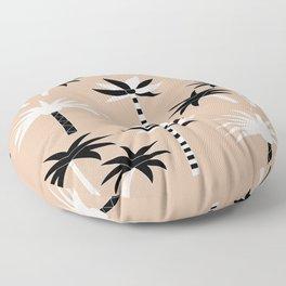 Palm Trees - Neutral Black & White Floor Pillow