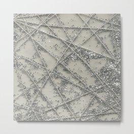 Sparkle Net Metal Print