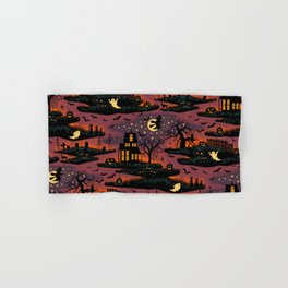 Halloween Night - Bonfire Glow Hand & Bath Towel