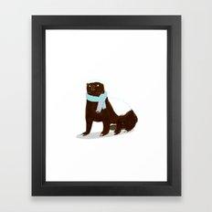 Honey Badger Framed Art Print