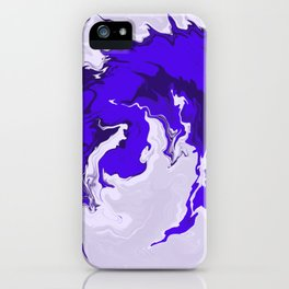 Blue Phoenix Liquefied Fire Abstract Digital Painting iPhone Case