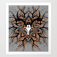 pagan Art Prints featuring Pagan mandala by Renars