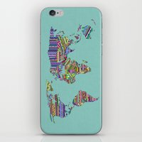 decal iPhone & iPod Skins featuring Overdose World by Bianca Green