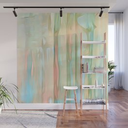 Streaks Of Colors Abstract - Pastel Wall Mural