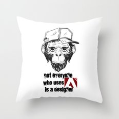 Not Everyone Who Uses Adobe is A Designer Throw Pillow