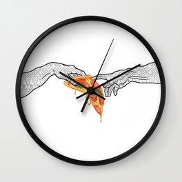 And god created pizza  Wall Clock
