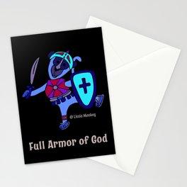 © Litte Monkey wears Full Armor of God Stationery Cards