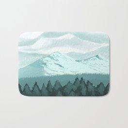 Icy Mountain Speedpaint Bath Mat