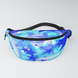 Glowing starfish on a light background in projection and with depth. Fanny Pack