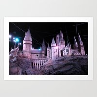hogwarts Art Prints featuring Hogwarts by Anabella Nolasco