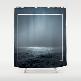 Twilight Geometry Shower Curtain