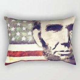 Patriot President Abraham Lincoln Rectangular Pillow