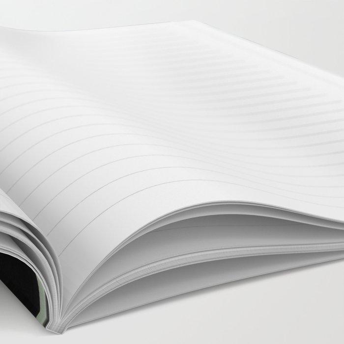 gray blue mandala Notebook
