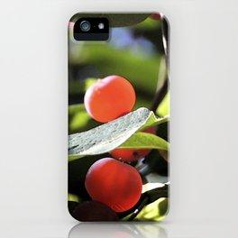 Jane's Garden - Sunkissed Red Berries iPhone Case
