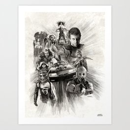 Homage to Mad Max Art Print