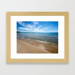 Lapping Waves Framed Art Print