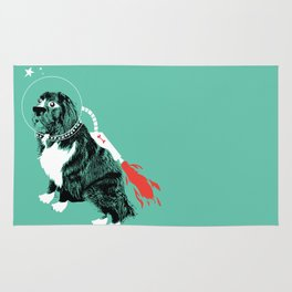 A Flying Dog In Outer Space Rug