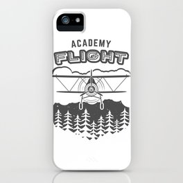 Vintage Airplane Emblem iPhone Case