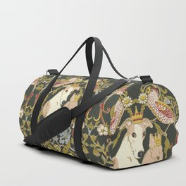 Whippets and Strawberry Thieves Duffle Bag
