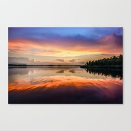 Sunset Symmetry Canvas Print