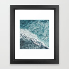 Saltwater Feelings Ocean Surf Framed Art Print