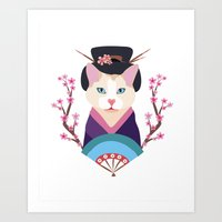 japanese Art Prints featuring Japanese by Holanes