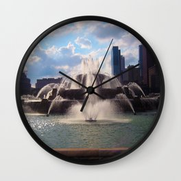 Buckingham Fountain Wall Clock
