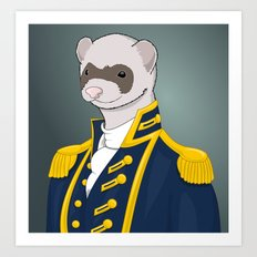 Captain Ferret Art Print