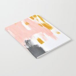 Gray and pink abstract Notebook