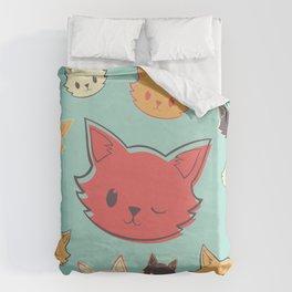 Kitty Wink Duvet Cover