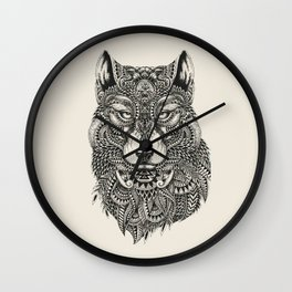wolf Highly detailed Wall Clock