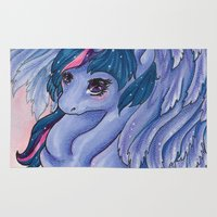 mlp Area & Throw Rugs featuring Twilight Princess MLP by Ashenee