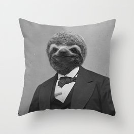 Gentleman Sloth 5# Throw Pillow