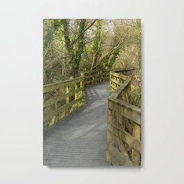 Walkway Donegal Ireland Metal Print