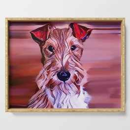 The Wire Fox Terrier Serving Tray
