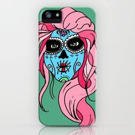 Pastel Sugar Skull iPhone Case