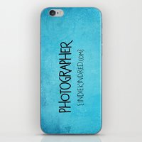photographer iPhone & iPod Skins featuring Photographer by Indie Kindred