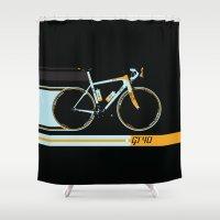 bike Shower Curtains featuring Bike by Wyatt Design