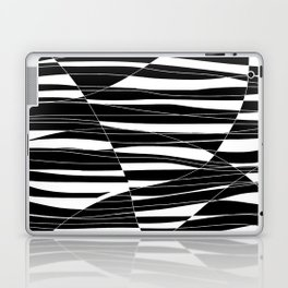 Carved Black and White Wave Laptop & iPad Skin