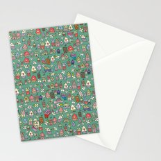Houses - eco Stationery Cards