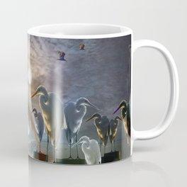 Fantasy Image of Bird Gathering Coffee Mug