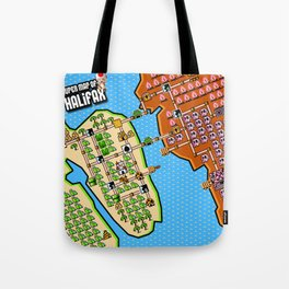 Super Map of Halifax Tote Bag