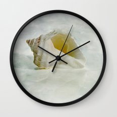 White Seashell Wall Clock