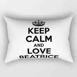 Keep calm and love BEATRICE Rectangular Pillow
