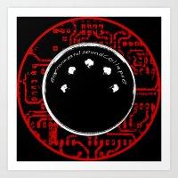 environmental sound collapse - MIDI/circuit board Art Print