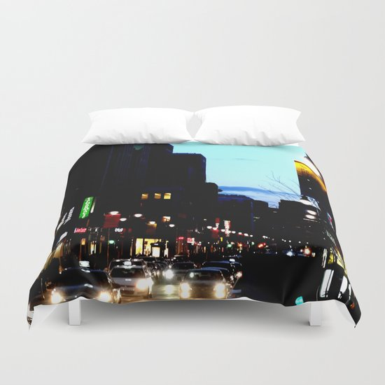 DownTowN - Night's coming Duvet Cover