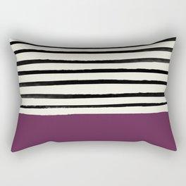 Plum x Stripes Rectangular Pillow